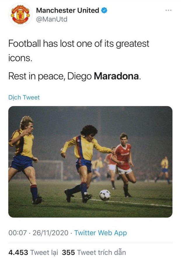 Các siêu sao thế giới tiếc thương huyền thoại Maradona: Vua bóng đá Pele hẹn chơi bóng cùng Cậu bé vàng trên thiên đàng - Ảnh 4.