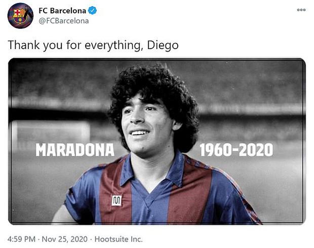 Các siêu sao thế giới tiếc thương huyền thoại Maradona: Vua bóng đá Pele hẹn chơi bóng cùng Cậu bé vàng trên thiên đàng - Ảnh 6.