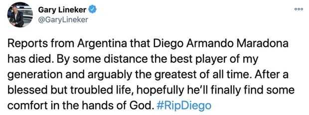 Các siêu sao thế giới tiếc thương huyền thoại Maradona: Vua bóng đá Pele hẹn chơi bóng cùng Cậu bé vàng trên thiên đàng - Ảnh 7.