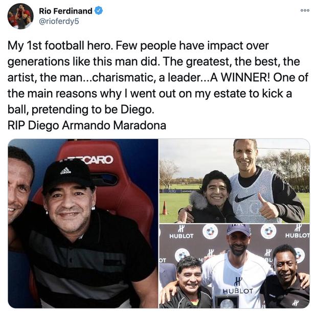 Các siêu sao thế giới tiếc thương huyền thoại Maradona: Vua bóng đá Pele hẹn chơi bóng cùng Cậu bé vàng trên thiên đàng - Ảnh 8.