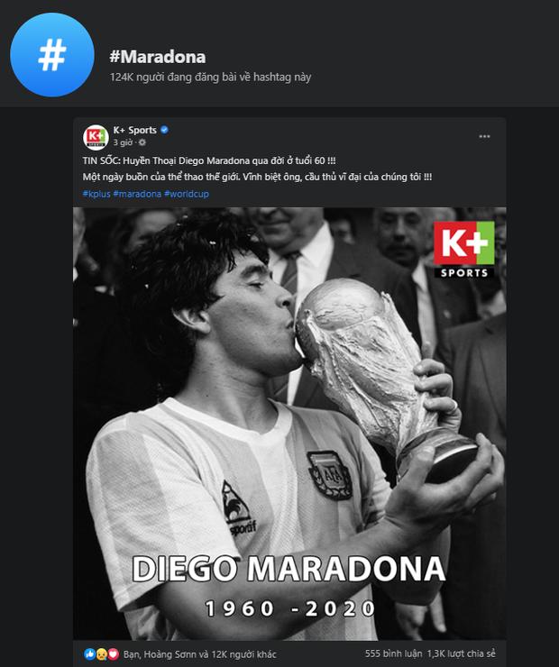 Mạng xã hội tràn ngập hashtag thương tiếc danh thủ người Argentina - Diego Maradona - Ảnh 4.