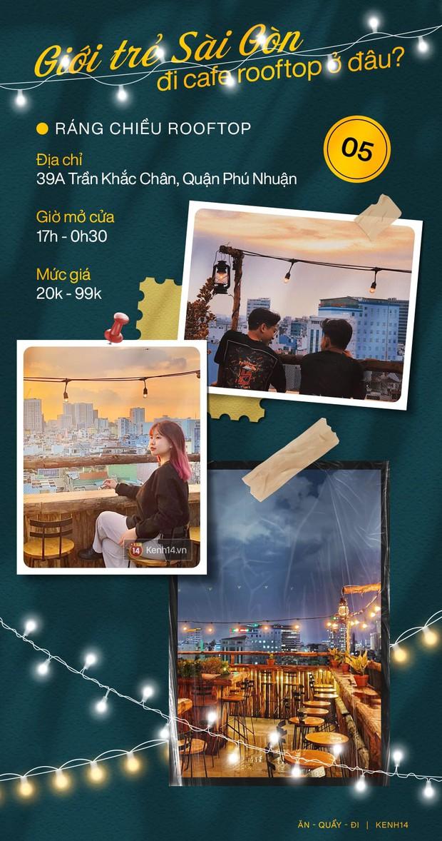 """Đã tìm ra 10 quán cà phê rooftop rẻ và đẹp nhất Sài Gòn: Buồn vui gì cũng lên ngồi """"chill"""" được, cứ chiều tối là giới trẻ check-in đông nghẹt - Ảnh 5."""