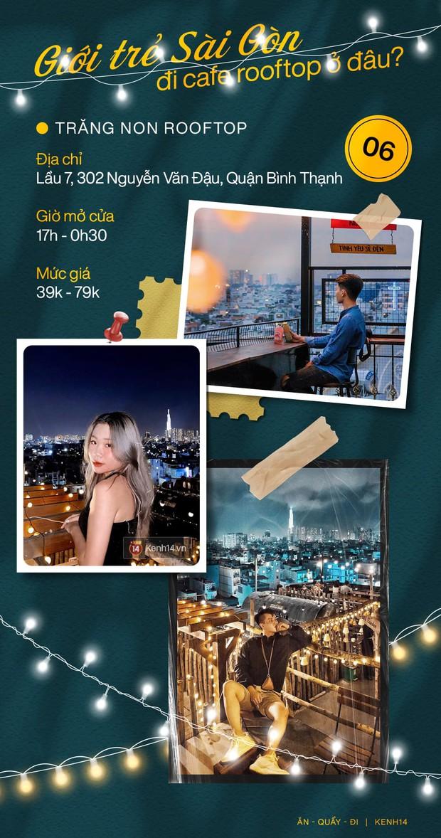 """Đã tìm ra 10 quán cà phê rooftop rẻ và đẹp nhất Sài Gòn: Buồn vui gì cũng lên ngồi """"chill"""" được, cứ chiều tối là giới trẻ check-in đông nghẹt - Ảnh 6."""