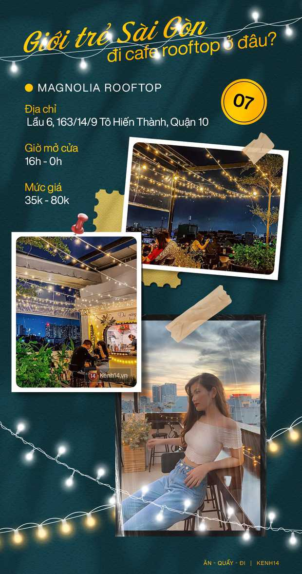 """Đã tìm ra 10 quán cà phê rooftop rẻ và đẹp nhất Sài Gòn: Buồn vui gì cũng lên ngồi """"chill"""" được, cứ chiều tối là giới trẻ check-in đông nghẹt - Ảnh 7."""