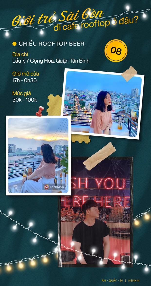 """Đã tìm ra 10 quán cà phê rooftop rẻ và đẹp nhất Sài Gòn: Buồn vui gì cũng lên ngồi """"chill"""" được, cứ chiều tối là giới trẻ check-in đông nghẹt - Ảnh 8."""