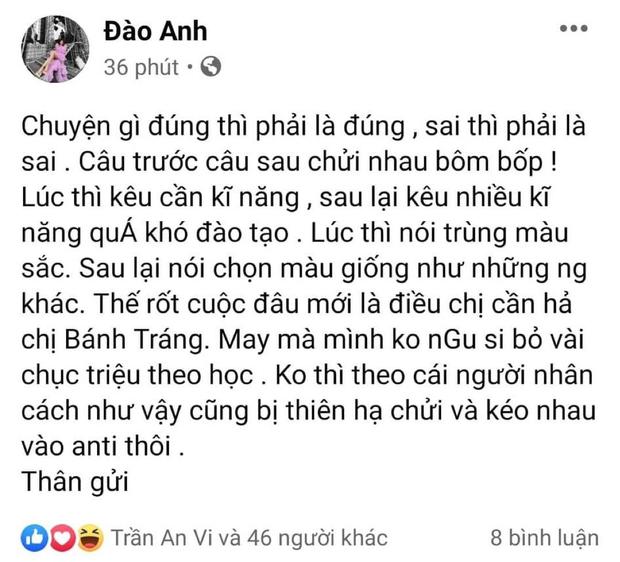 Đào Anh vào thẳng group anti kể chuyện về Hương Giang, còn mỉa mai gọi Võ Hoàng Yến là chị Bánh Tráng? - Ảnh 4.