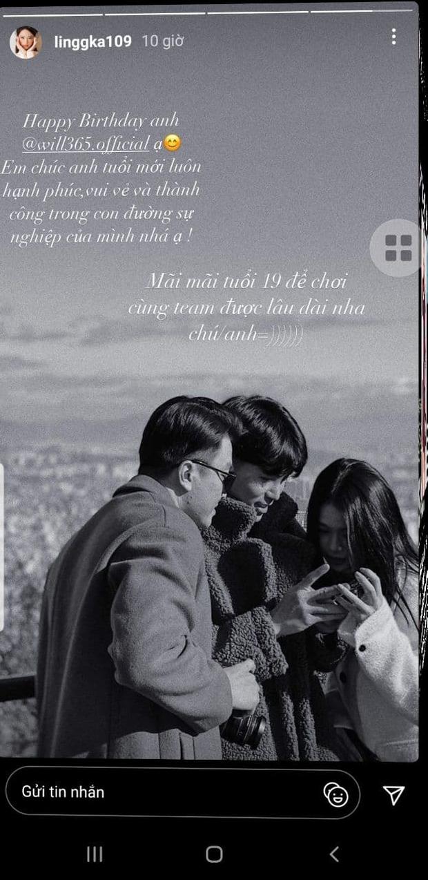 Giữa nghi vấn hẹn hò, Linh Ka công khai đăng ảnh với Will kèm lời chúc cực ngọt: Động thái khẳng định tình cảm là đây? - Ảnh 2.