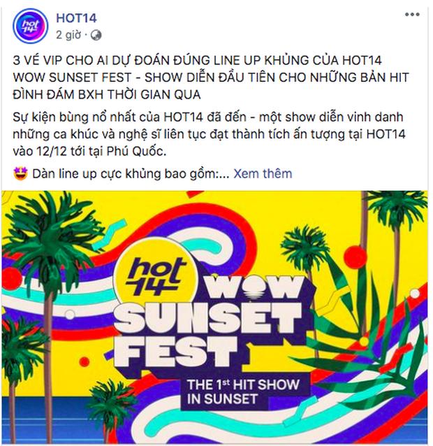 Netizen tán loạn dự đoán dàn line-up khủng của HOT14 WOW Sunset Fest, Jack và Thùy Chi được gọi tên liên tục? - Ảnh 5.