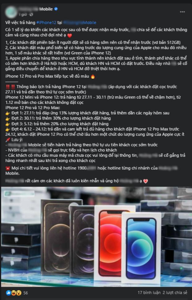 iPhone 12 chính hãng cháy hàng, một đại lý nổi tiếng dính lùm xùm vì nhận cọc sớm nhưng chưa có hàng trả khách? - Ảnh 7.