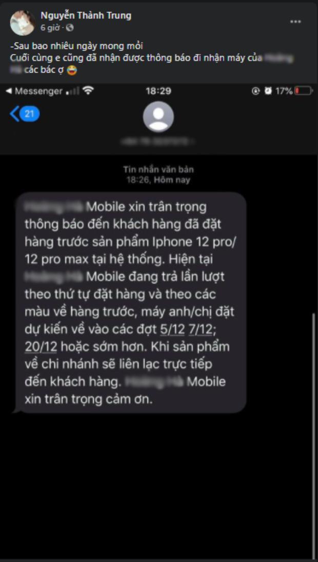 iPhone 12 chính hãng cháy hàng, một đại lý nổi tiếng dính lùm xùm vì nhận cọc sớm nhưng chưa có hàng trả khách? - Ảnh 6.