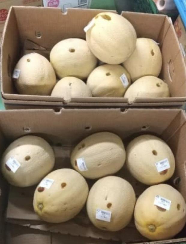 Đi siêu thị tiện tay chọc thủng 13 quả dưa, người phụ nữ rảnh rỗi sinh nông nổi bị cảnh sát tóm về đồn - Ảnh 1.