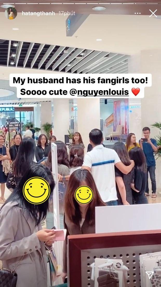 Hà Tăng khoe ảnh tình tứ bên ông xã đại gia, hé lộ phản ứng bất ngờ khi Louis Nguyễn bị fan nữ quây kín - Ảnh 3.