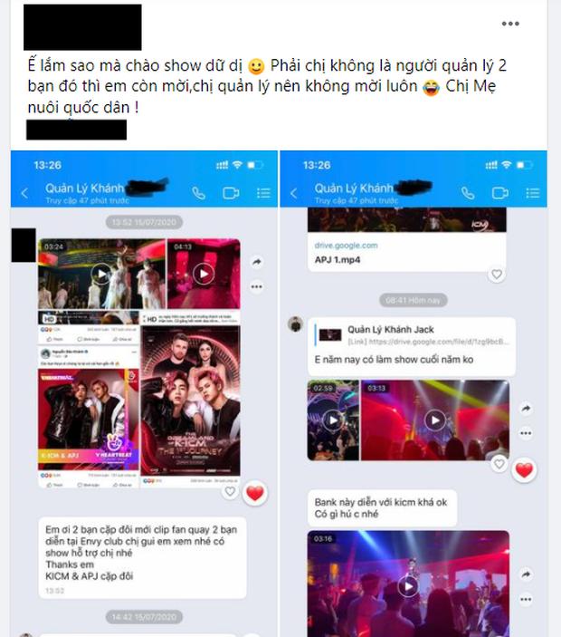 Xôn xao đoạn tin nhắn được cho là mẹ nuôi K-ICM chào mời show nhưng bầu show chỉ seen không rep, netizen lập tức cà khịa - Ảnh 1.