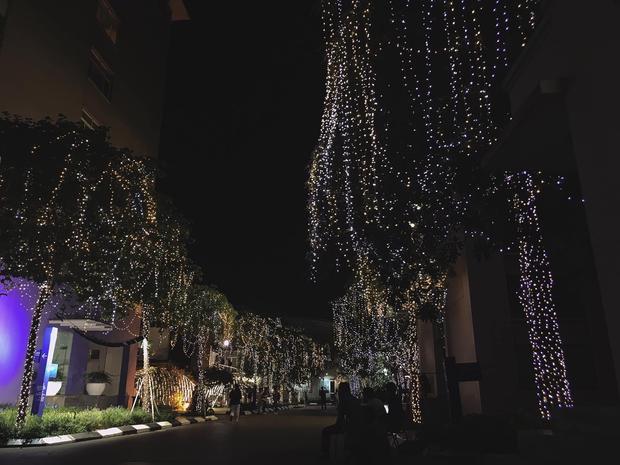 Trường con nhà giàu ĐH Thăng Long lại trang trí Giáng sinh đẹp mê hồn, đố trường nào làm lại - Ảnh 3.