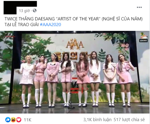 TWICE thắng Daesang mảng nghệ sĩ nhưng không được công nhận, netizen mỉa mai AAA 2020 trao giải Encore Of The Year còn hợp lý hơn! - Ảnh 11.