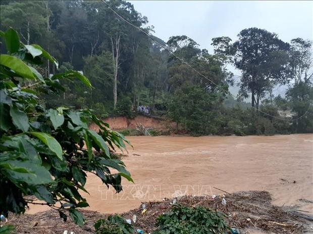 Bốn du khách bị lũ cuốn trôi tại Lâm Đồng, 2 người vẫn đang mất tích - Ảnh 1.