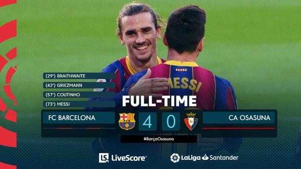 Barca đại thắng 4-0, Messi ghi bàn và mặc chiếc áo tri ân Maradona - Ảnh 11.