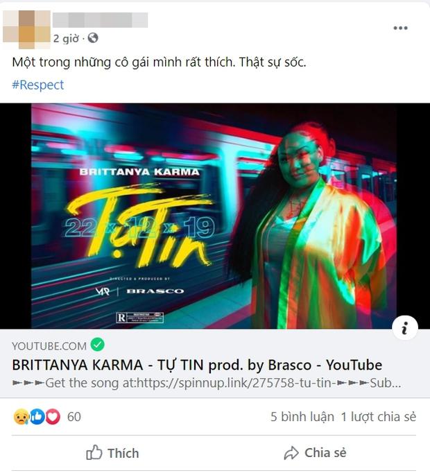 Dân mạng đồng loạt chia sẻ lại thông điệp tích cực trong MV Tự Tin của rapper gốc Việt Brittanya Karma - Ảnh 16.