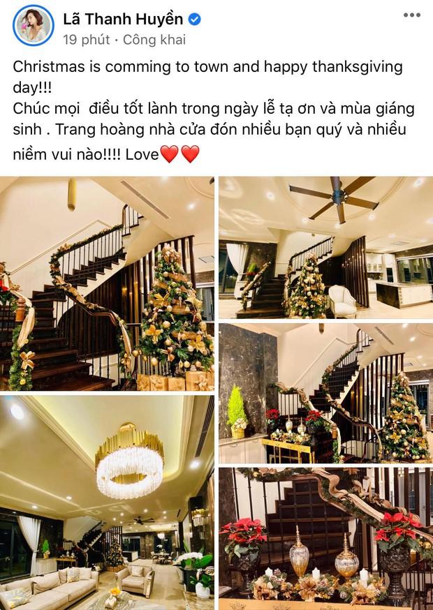 Dàn sao Vbiz rộn ràng đón lễ Tạ ơn - Giáng sinh, choáng nhất Ngọc Trinh, Phạm Hương và Lã Thanh Huyền trang hoàng nhà lồng lộn - Ảnh 13.