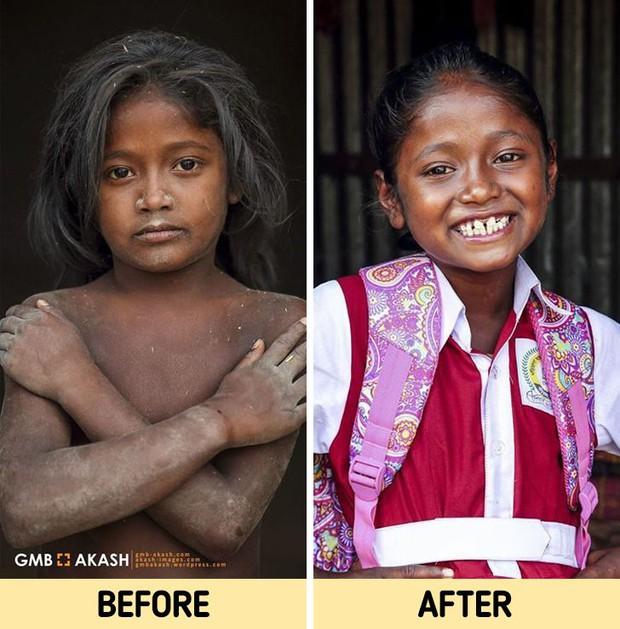 Chùm ảnh trẻ em nghèo trước và sau khi được giúp đỡ để có cơ hội đến trường đi học như bạn bè đồng trang lứa gây xúc động mạnh - Ảnh 16.