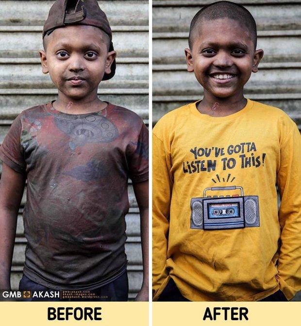 Chùm ảnh trẻ em nghèo trước và sau khi được giúp đỡ để có cơ hội đến trường đi học như bạn bè đồng trang lứa gây xúc động mạnh - Ảnh 10.