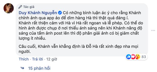 Bị netizen mỉa mai cố tình dìm hàng Hoa hậu Việt Nam Đỗ Thị Hà, Duy Khánh lên tiếng làm rõ - Ảnh 3.