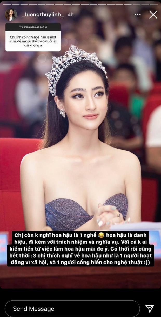 Lương Thùy Linh: Hoa hậu không phải một nghề, không chấp nhận mình học dốt - Ảnh 3.