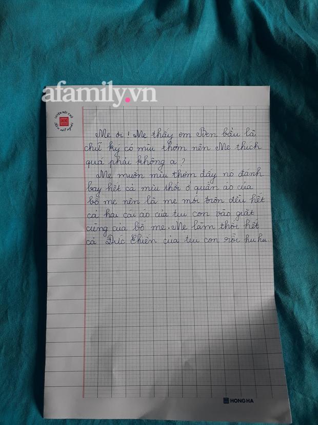 Cậu bé xin được chữ ký của cầu thủ U22 Việt Nam, sợ mẹ giặt áo bay mất chữ nên viết bức tâm thư mùi mẫn, cả nhà đọc xong cười xỉu - Ảnh 3.