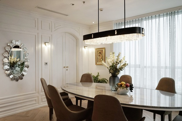 Căn hộ 350m2 của nữ doanh nhân Hà Nội: Phong cách Paris thanh lịch, nội thất nhập từ Ý, Pháp - Ảnh 10.
