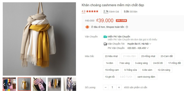 5 mẫu khăn len từ 39k bán chạy nhất kèm cả review xịn cho bạn - Ảnh 2.