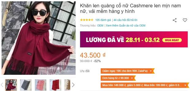 5 mẫu khăn len từ 39k bán chạy nhất kèm cả review xịn cho bạn - Ảnh 10.