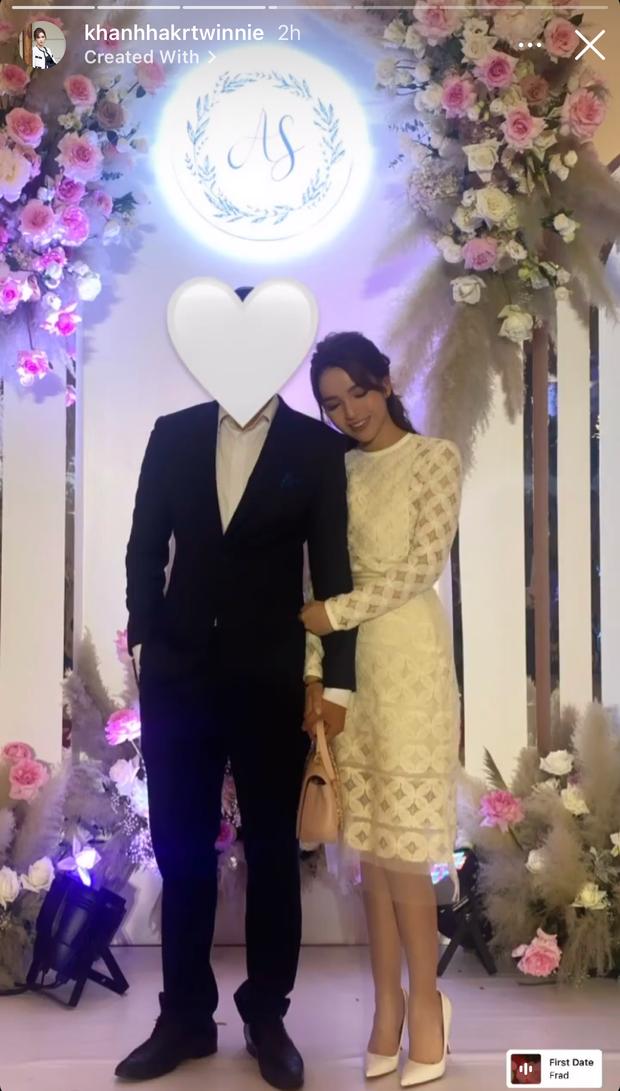 Em dâu hụt Phan Thành sánh vai cùng bạn trai hơn 11 tuổi đi ăn cưới Á hậu Tường San - Ảnh 2.