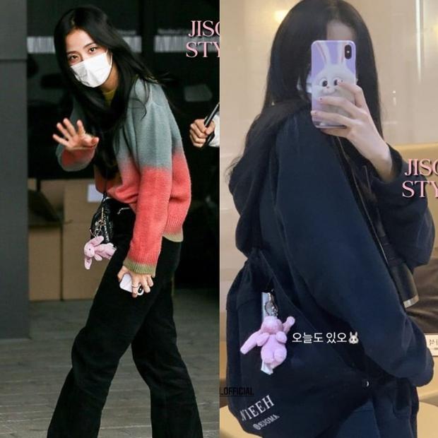 Bắt chước Jisoo, Lisa sắm móc khóa thú bông treo túi siêu cute - Ảnh 2.