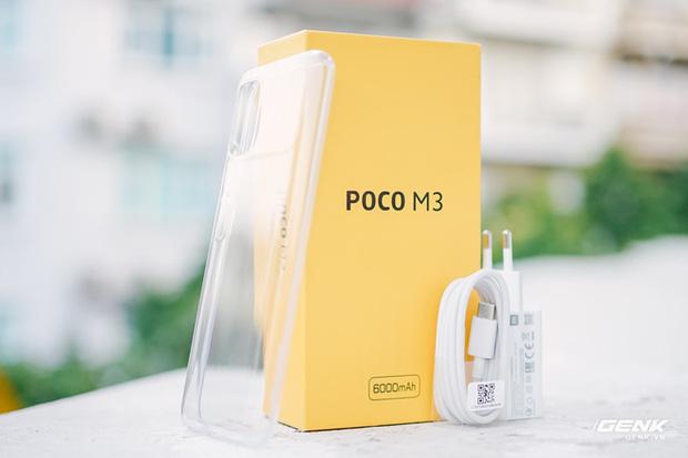 Trên tay POCO M3: Chỉ hơn 3 triệu đồng đã có mặt lưng giả da, loa kép, camera 48MP, pin khủng 6.000mAh - Ảnh 2.
