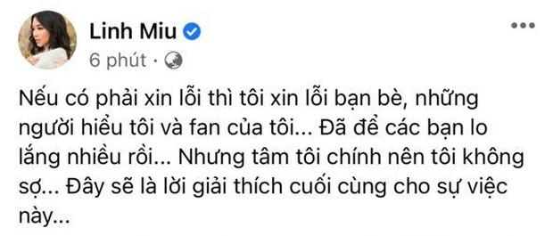 Linh Miu lên tiếng sau status chia buồn NS Chí Tài kiểu khó hiểu: Tâm tôi chính, tôi không sợ - Ảnh 1.