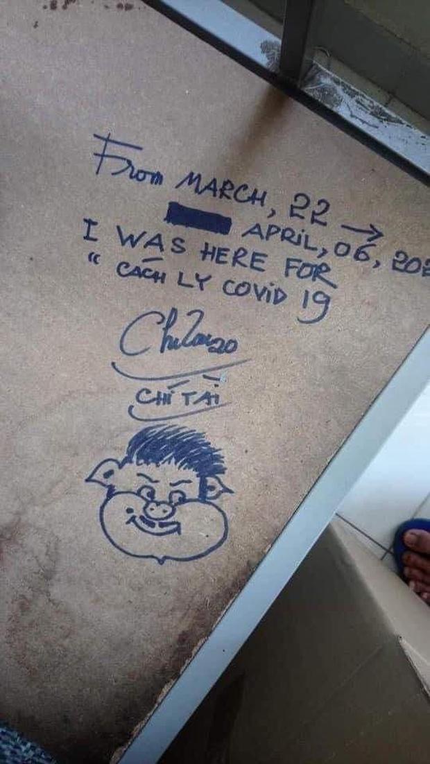 Xúc động bức vẽ của nghệ sĩ Chí Tài để lại ở khu cách ly và hành động tử tế chú dành cho các bạn du học sinh - Ảnh 2.