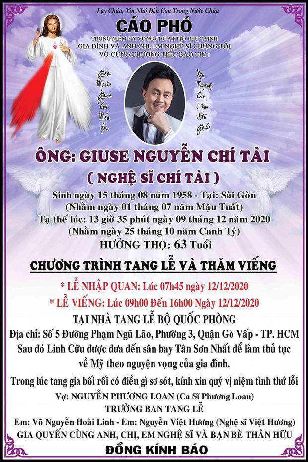 Trước ngày tổ chức tang lễ cố NS Chí Tài, NS Hoài Linh đột ngột thông báo có thay đổi quan trọng - Ảnh 3.