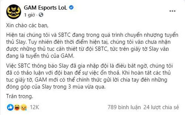 SBTC và GAM Esports khẩu chiến thương vụ Slay, cộng đồng tiện tay lôi lại drama cũ với NoWay - Ảnh 3.