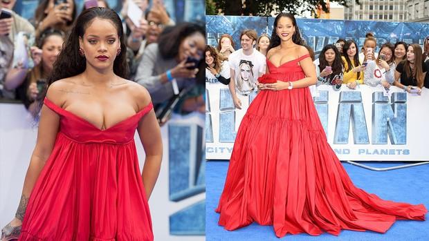 Rihanna đúng là nữ hoàng thảm đỏ của Hollywood: Bức tử vòng 1 ngồn ngộn, mặc như nude 100%, đẹp nhất lại là lúc hở tinh tế - Ảnh 5.