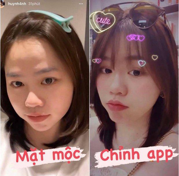 Bạn gái cũ Quang Hải lại bị so ảnh mặt mộc và lúc cà thêm tí filter cho xinh - Ảnh 1.