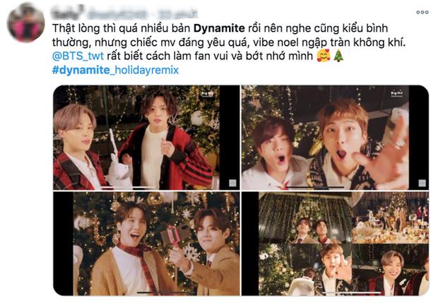 BTS khiến fan nghe muốn... mệt khi nối dài chuỗi remix siêu hit Dynamite bằng version Giáng sinh, nên dừng lại đi thôi? - Ảnh 4.