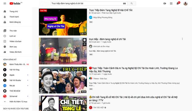 Hàng chục kênh YouTube đăng video giả Trực tiếp đám tang Nghệ sĩ Chí Tài để câu view, cộng đồng phẫn nộ, phản ứng gay gắt - Ảnh 2.