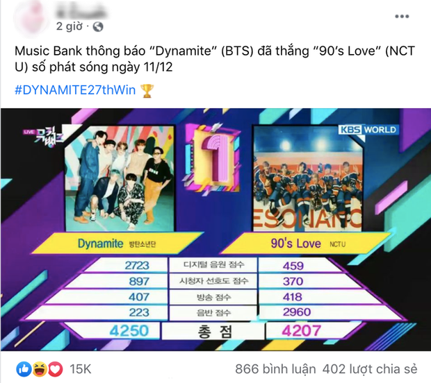 Dynamite (BTS) tiếp tục bon chen tranh cúp của NCT với điểm số sít sao, Life Goes On lại bị gọi hồn như truyền nhân ca khúc con ghẻ của BLACKPINK - Ảnh 6.