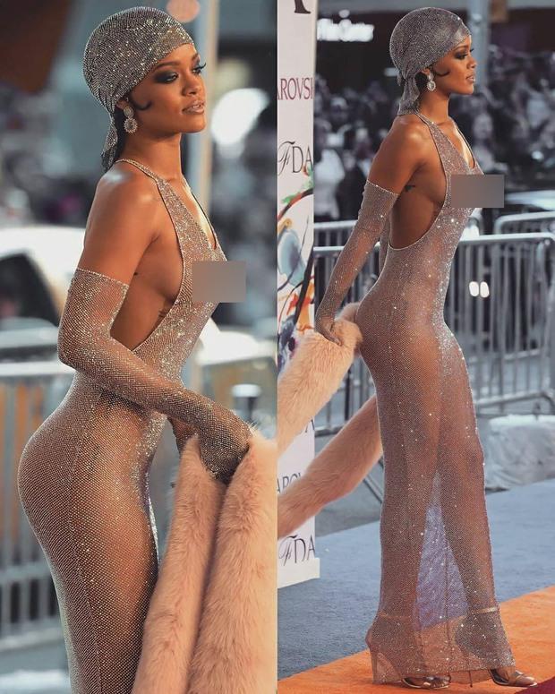 Rihanna đúng là nữ hoàng thảm đỏ của Hollywood: Bức tử vòng 1 ngồn ngộn, mặc như nude 100%, đẹp nhất lại là lúc hở tinh tế - Ảnh 8.