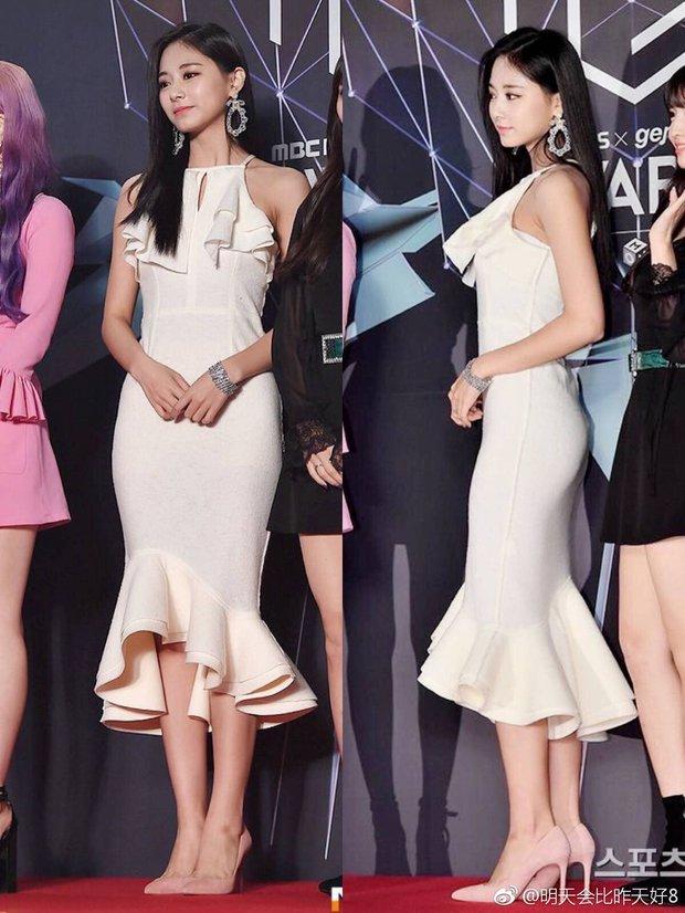 Tzuyu có hông đẹp đỉnh cao nhưng JYP toàn bắt gà chiến mặc váy che dáng chuẩn, định đối xử bất công hay gì? - Ảnh 2.