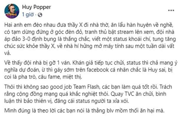 Không chỉ Daim bị chỉ trích nặng nề sau thất bại của Team Flash, Huy Popper cũng bị vạ oan chỉ vì gáy sớm - Ảnh 6.