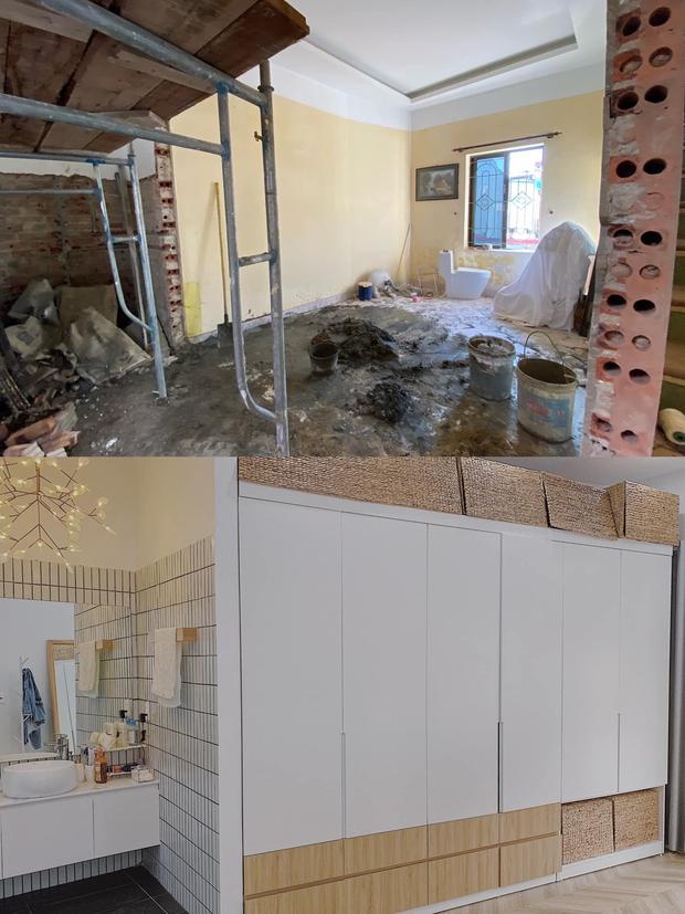 Tiết kiệm tiền mua căn nhà 94m2, vợ chồng trẻ cải tạo thành nơi ở cực chill, nhìn ảnh trước sau mà ngỡ ngàng - Ảnh 6.
