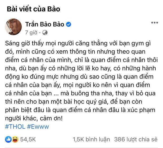 BB Trần đăng status gây chú ý về biến gymer lăng mạ NS Chí Tài, tưởng bênh vực ai ngờ quay xe căng đét - Ảnh 3.