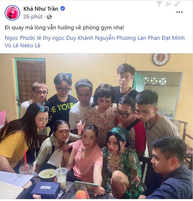 Đang đi quay, Khả Như, Duy Khánh, Misthy và dàn sao vẫn tranh thủ coi livestream vụ xử lý nam gymer lăng mạ NS Chí Tài - Ảnh 2.