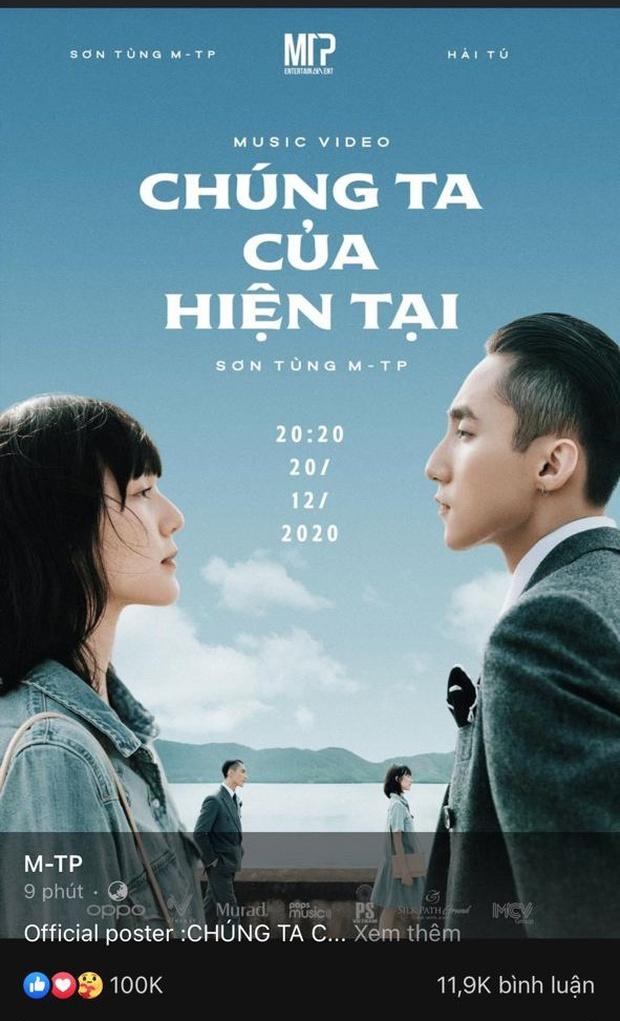 HOT: Sơn Tùng M-TP xác nhận ngày giờ comeback, công bố tên ca khúc và nữ chính Hải Tú, sau 10 phút đạt hơn 100 nghìn like! - Ảnh 3.